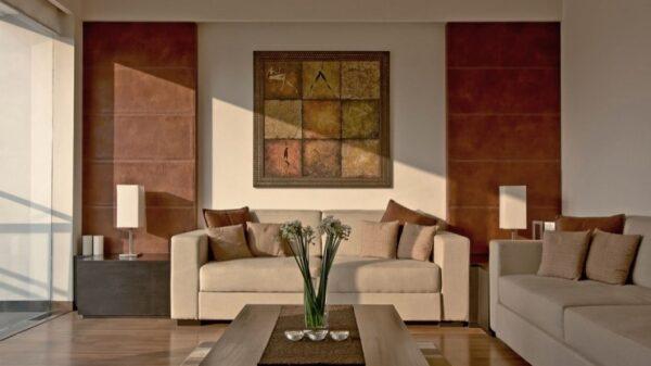 Contoh Ide Gambar Rumah Minimalis Ruang Tamu Coklat