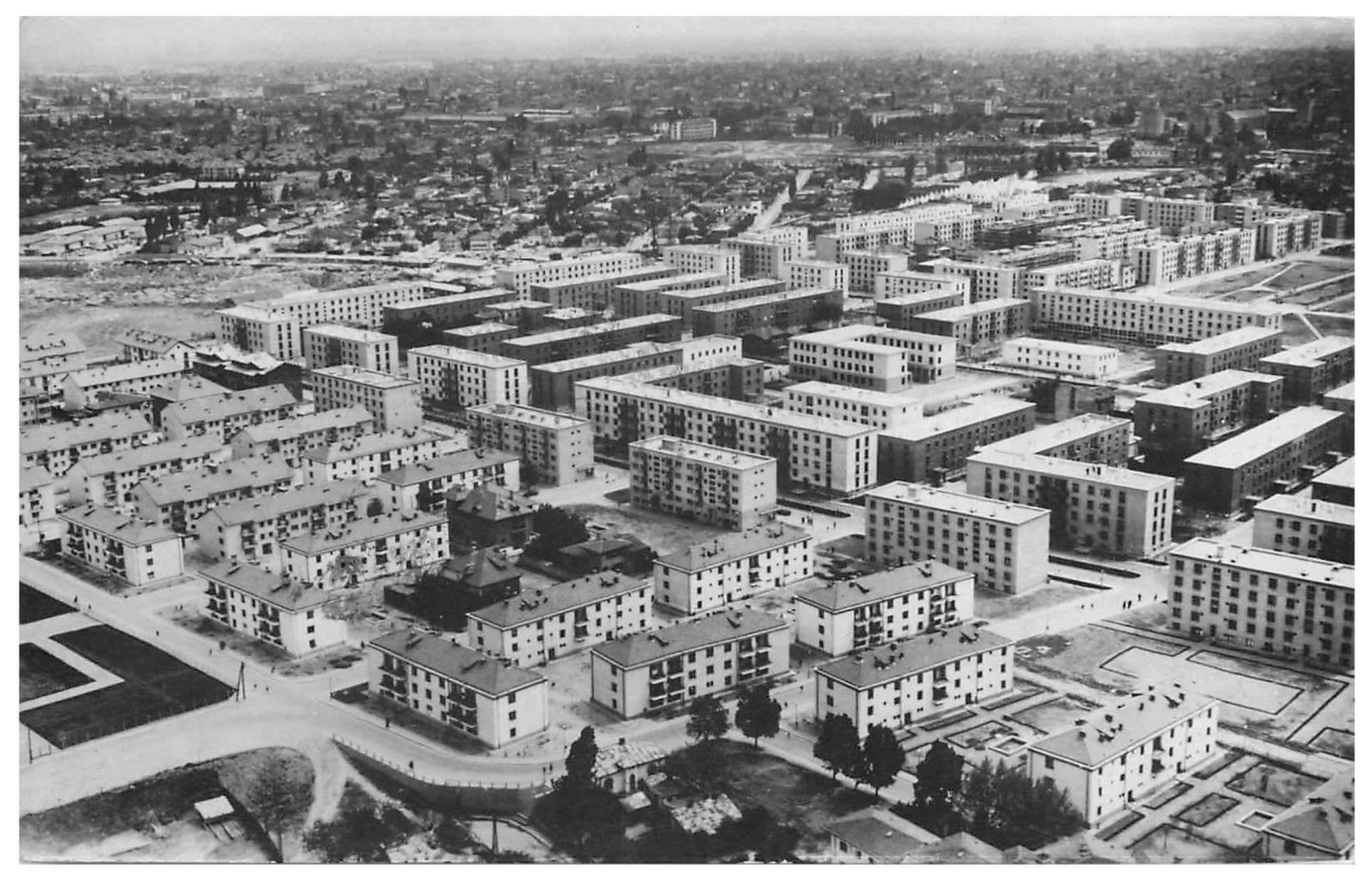 Blocuri noi din cartierul bucureștean Floreasca, 1961.